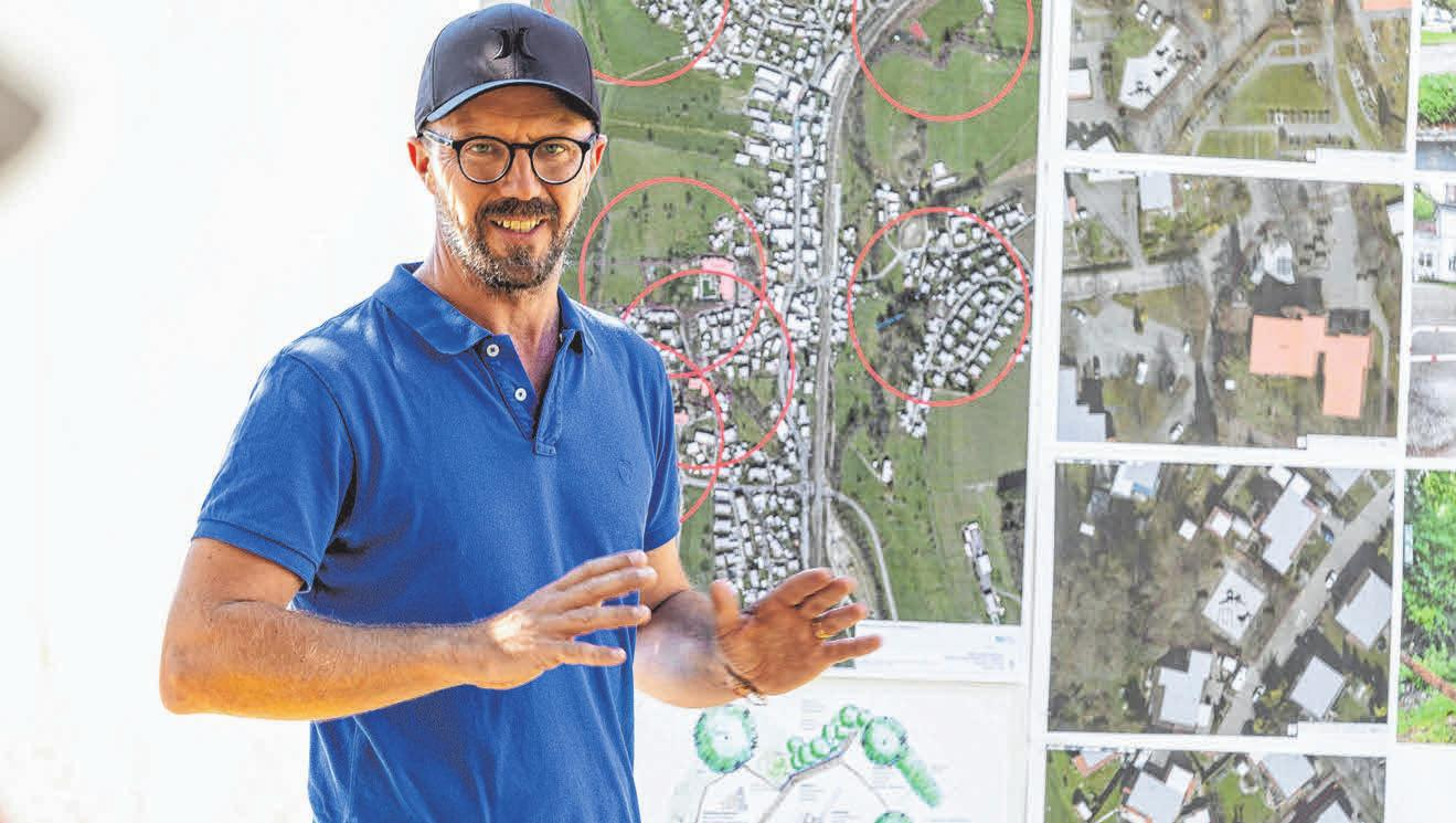 Hier präsentiert die GTL Pläne zum Spielplatz in Oberreitnau. Projekte wie diese sowie von anderen städtischen Verkehrs- udn Grünflächen werden in der Abteilung GT-Projekte geplant und abgewickelt.