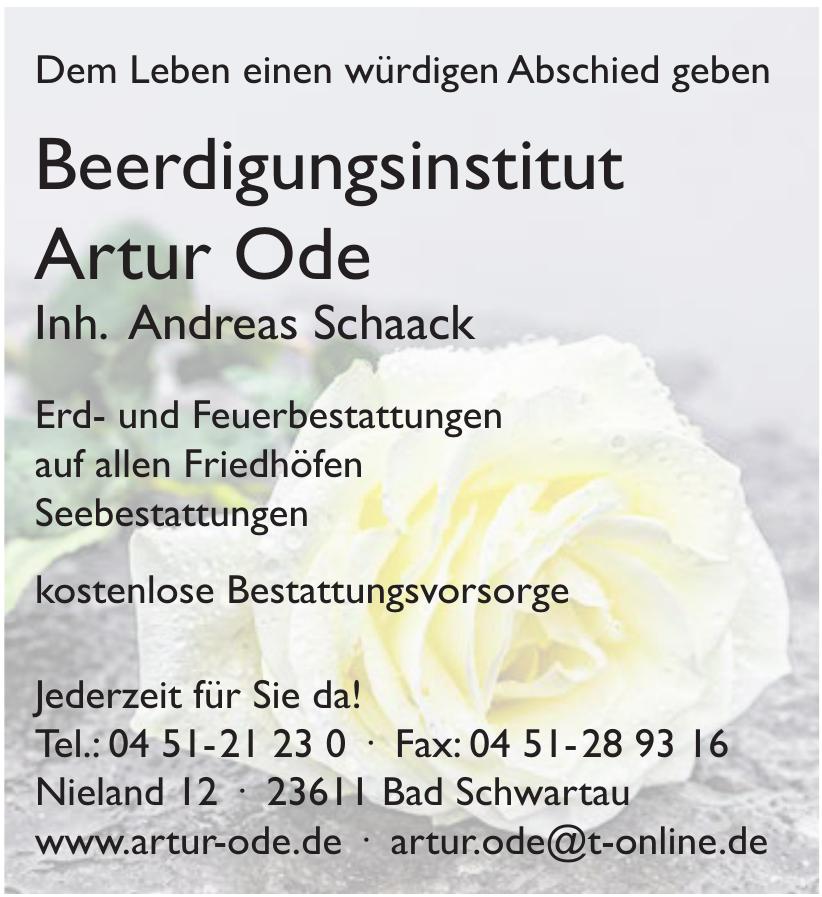 Beerdigungsinstitut Artur Ode