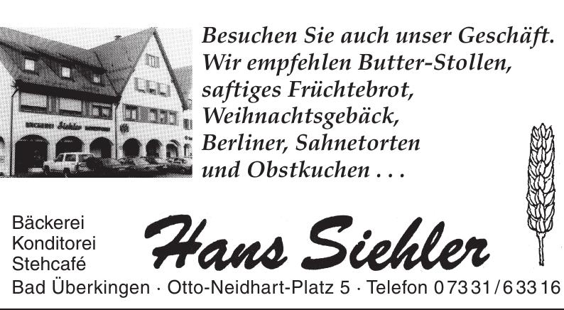 Bäckerei und Konditorei Hans Siehler
