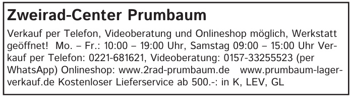 Zweirad-Center Prumbaum