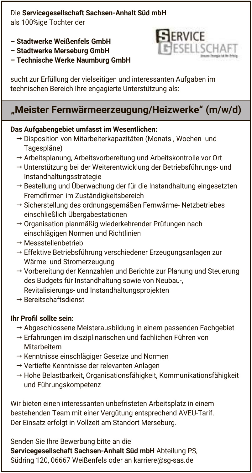 Servicegesellschaft Sachsen-Anhalt Süd mbH