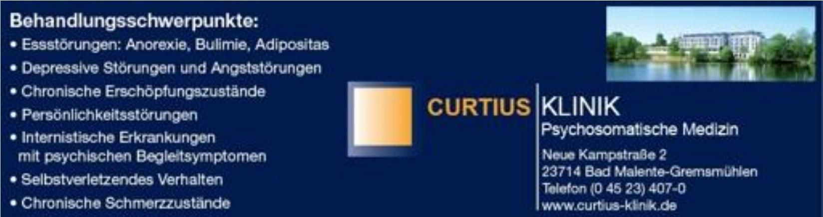 Curtius Klinik Psychosomatische Medizin