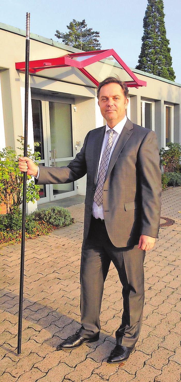 Bis zu zwei Meter lang können die Schrauben sein, die Toge-Chef Andreas Gerhard (Foto) mit Professor Jürgen Feix entwicklt hat.