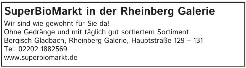 SuperBioMarkt in der Rheinberg Galerie
