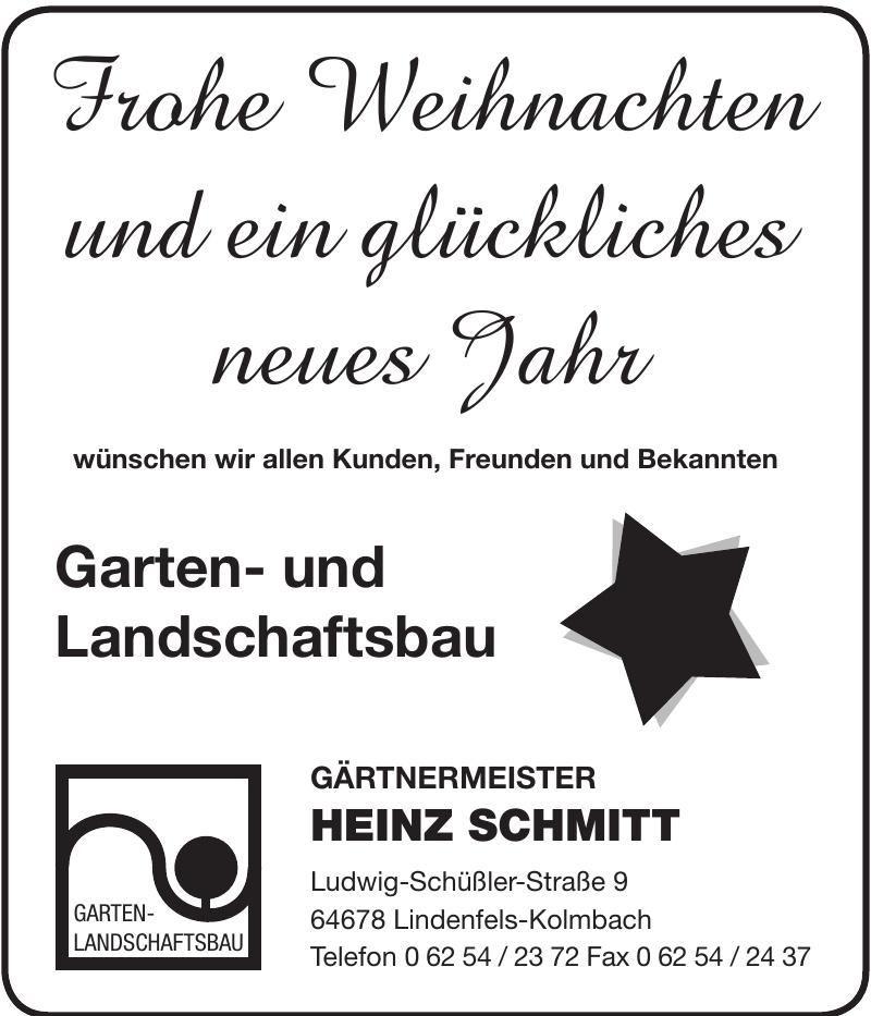 Gärtnermeister Heinz Schmitt