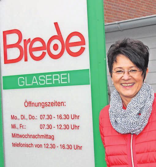 Moderne Lösungen aus Glas bietet Katrin Rosehr von der Glaserei Brede. Carola Pieper
