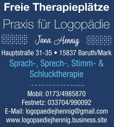 Praxis für Logopädie Jana Hennig