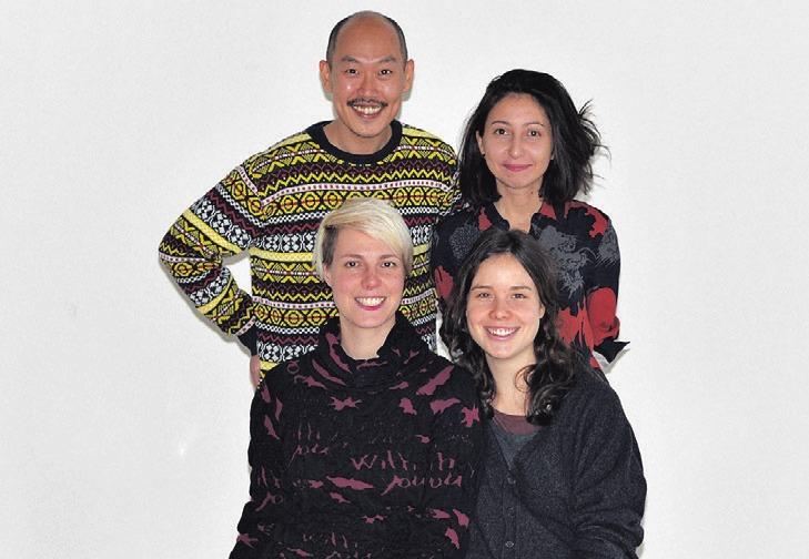 Künstler des Projekts: Kyu Nyun Kim, Esra Oezen (hinten v. l.), Lisa Tschorn und Tarabea Guastavino San Martín (vorne v. l.).