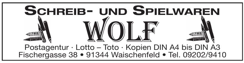 Schreib- und Spielwaren Wolf