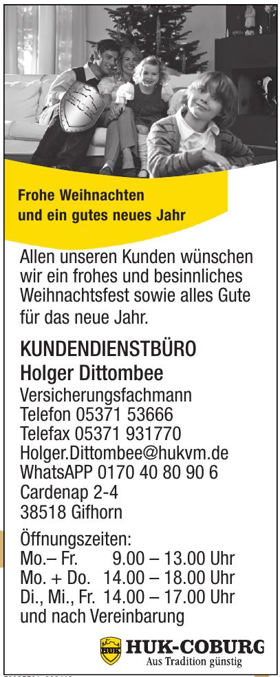 Huk-Coburg - Kundendienstbüro Holger Dittombee