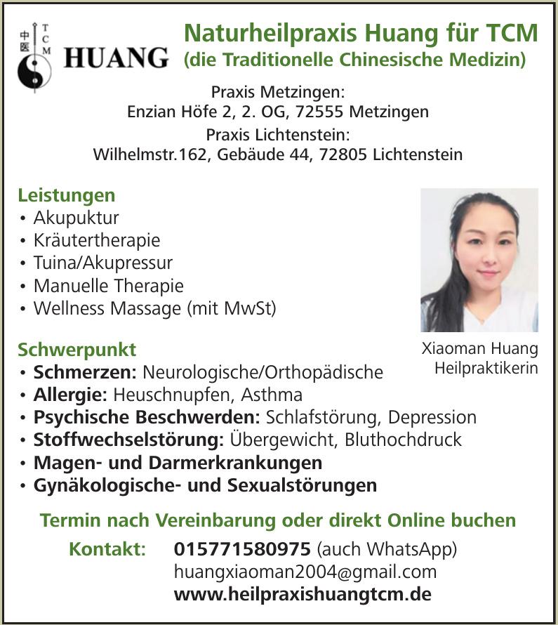 Naturheilpraxis Huang für TCM