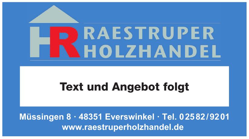 HR Raestruper Holzhandel