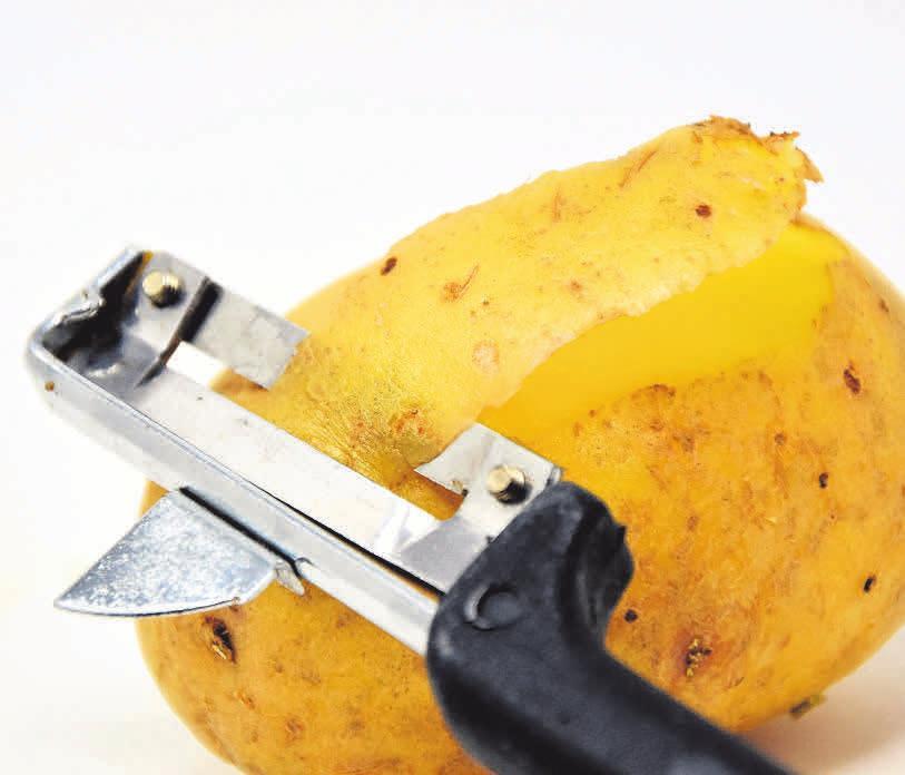 Hier wird Hausarbeit gewürdigt: die flinken Kartoffelschäler haben Aussicht auf einen Pokal.