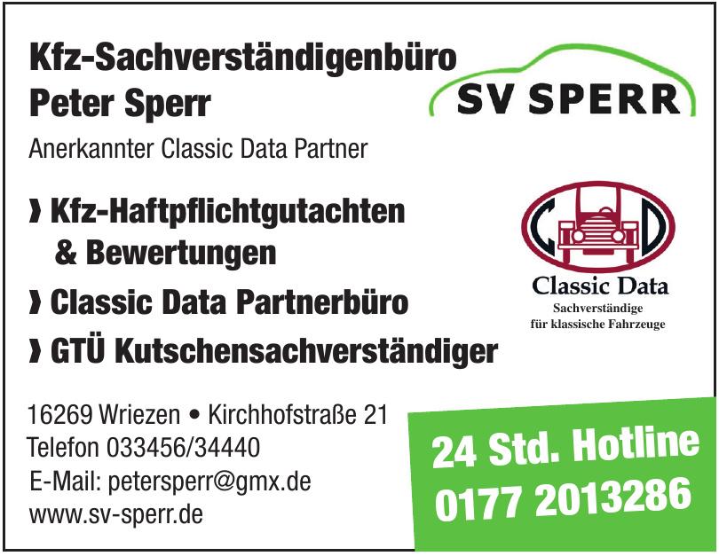 Kfz-Sachverständigenbüro Peter Sperr