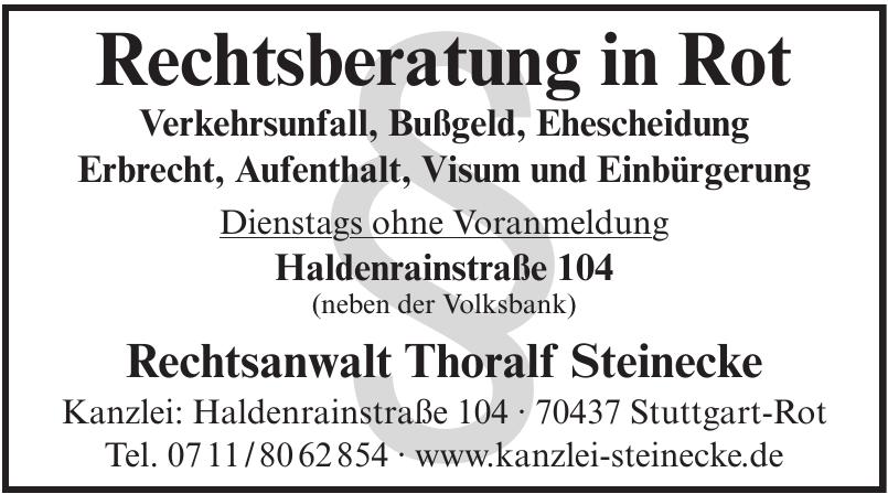 Rechtsanwalt Thoralf Steinecke