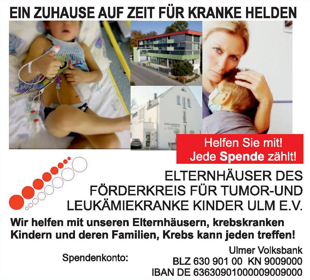Elternhäuser des Förderkreis für Tumor- und Leukämiekrankde Kinder Ulm e.V