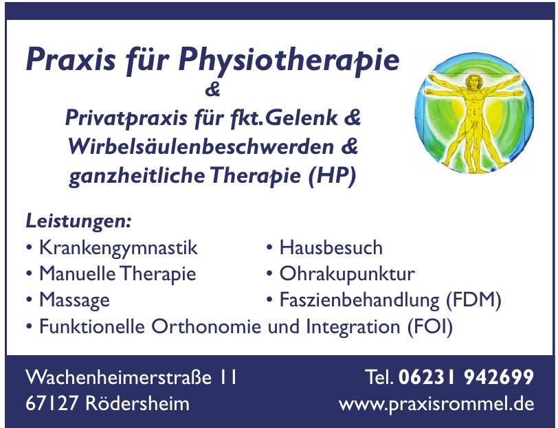 Praxis für Physiotherapie Rommel