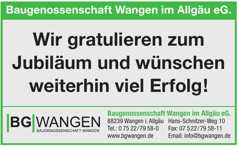 Baugenossenschaft Wangen im Allgäu eG.