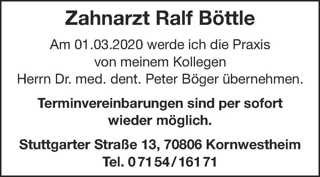 Zahnarzt Ralf Böttle