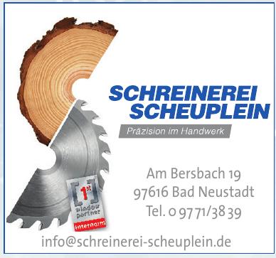 Schreinerei Scheuplein