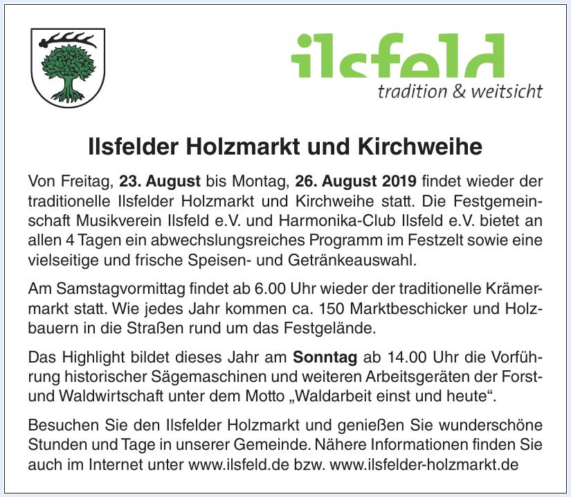 Ilsfelder Holzmarkt und Kirchweihe