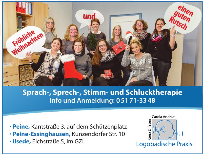 Logopädische Praxis Gesa Driesen und Carola Andrae