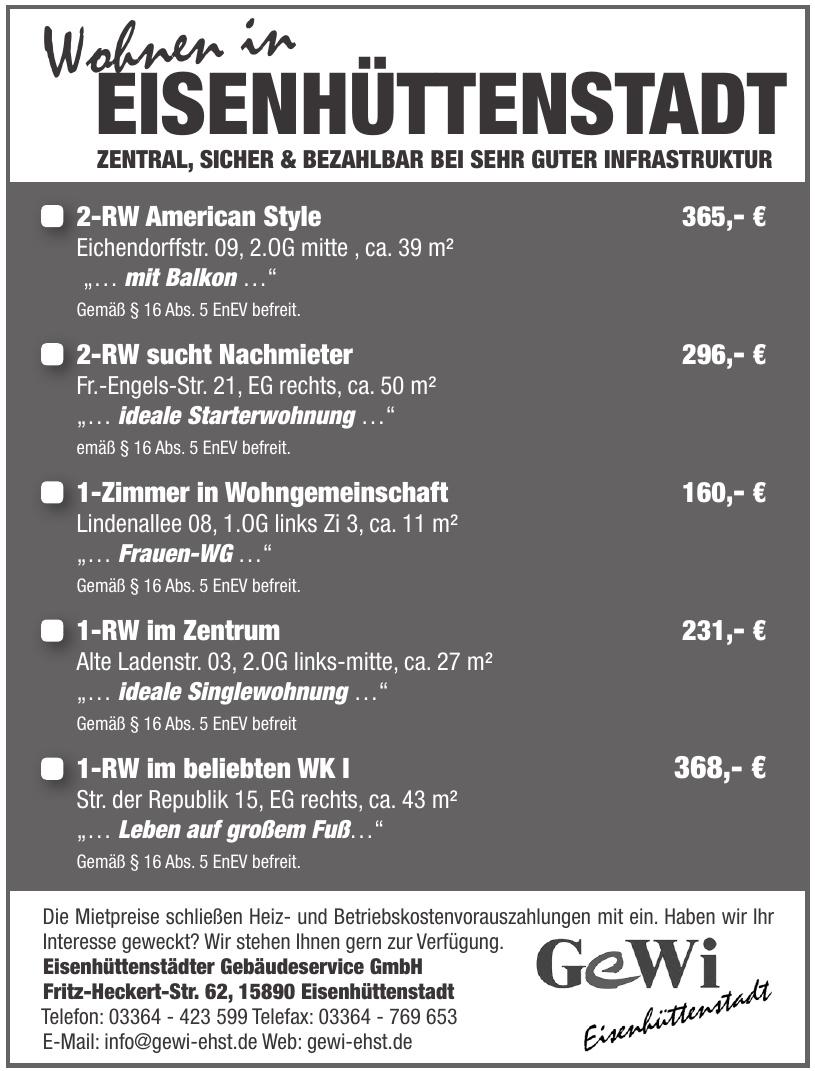 Eisenhüttenstädter Gebäudeservice GmbH