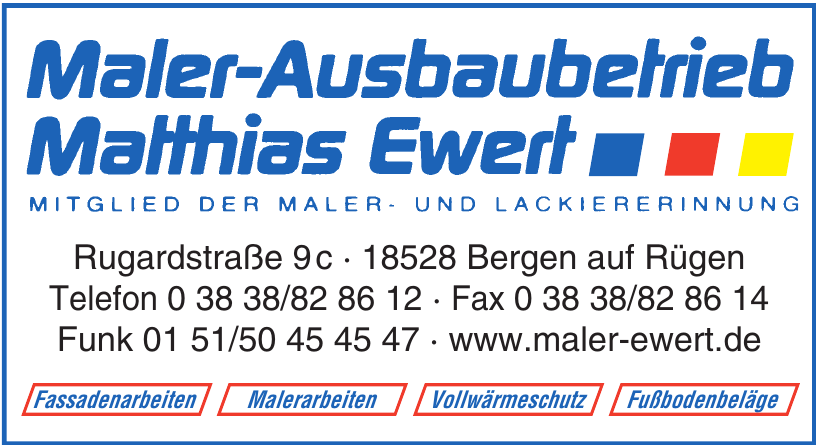 Maler-Ausbaubetrieb Matthias Ewert