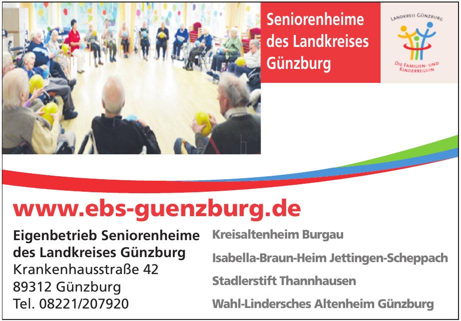 Eigenbetrieb Seniorenheime des Landkreises Günzburg