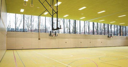 Blick in die neue Sporthalle. Bild: Sprenger Architekten und Partner mbB
