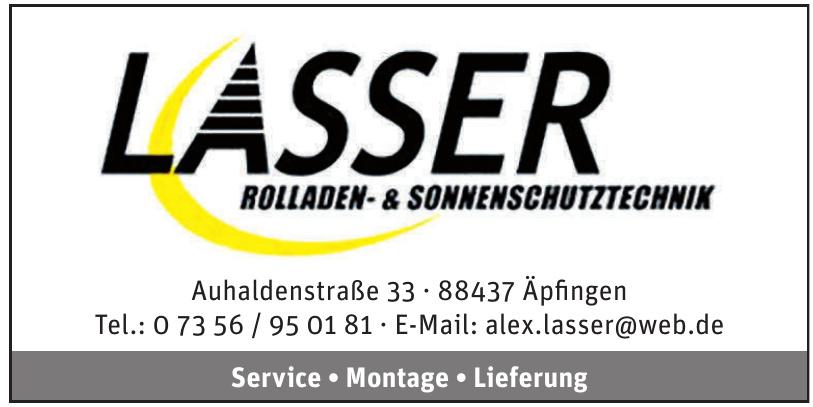 Alexander Lasser Rolladen und Sonnenschutz