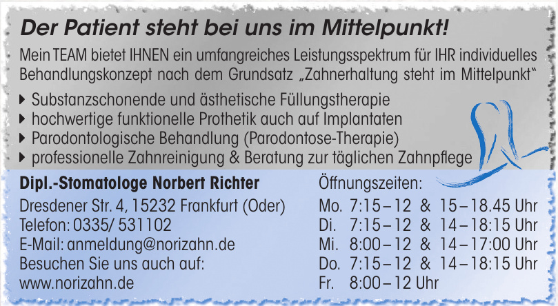 Dipl.-Stomatologe Norbert Richter
