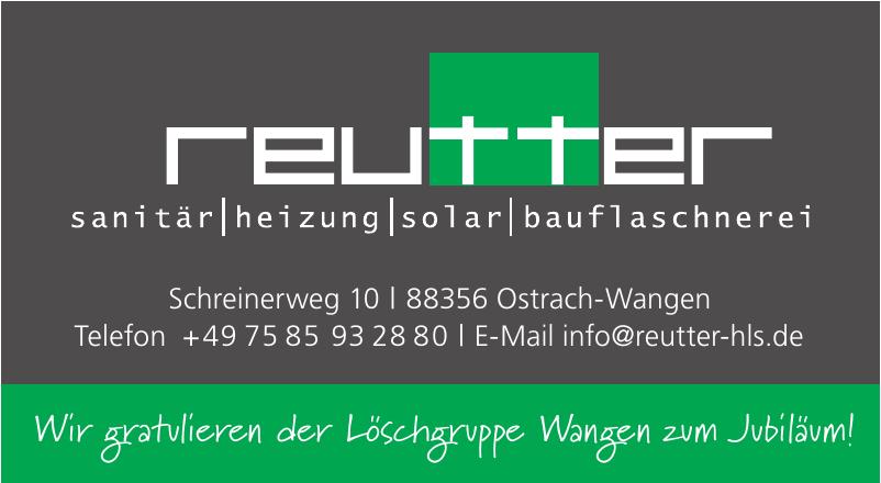 Reutter Sanitär, Heizung, Solar, Bauflaschnerei