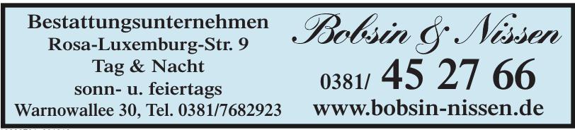 Bestattungsunternehmen Bobsin & Nissen