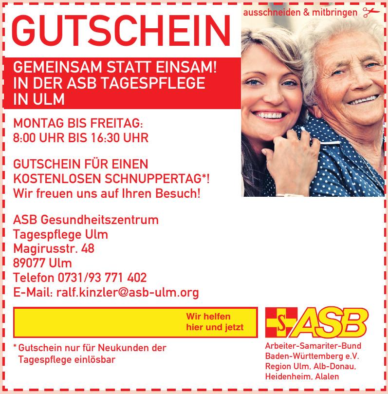 ASB Gesundheitszentrum Tagespflege Ulm