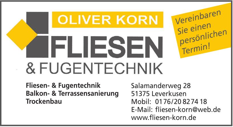 Oliver Korn Fliesen & Fugentechnik