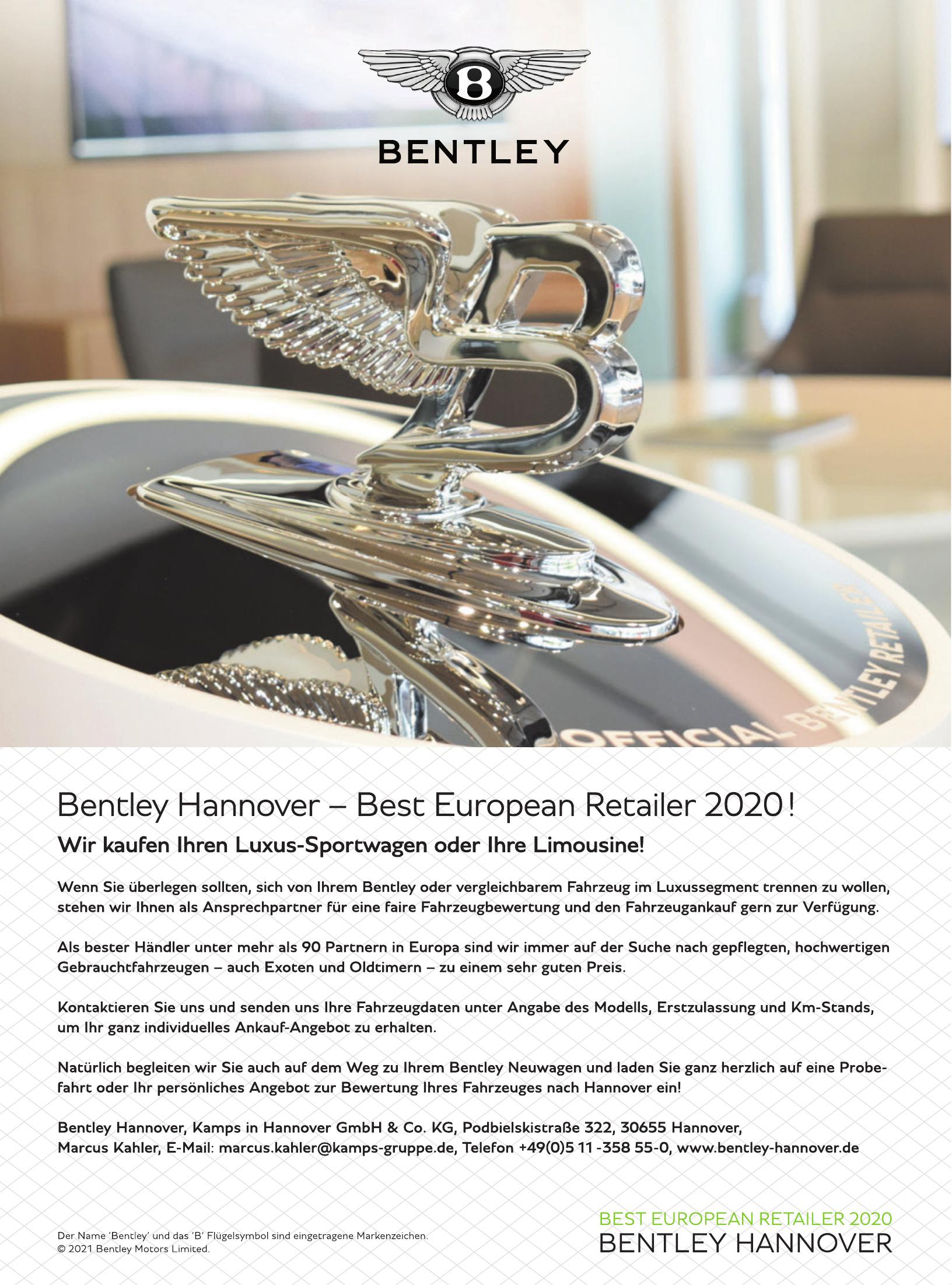 Bentley Hannover - Kamps in Hannover GmbH & Co. KG