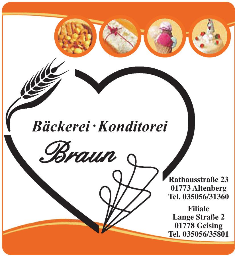 Bäckerei, Konditorei Braun