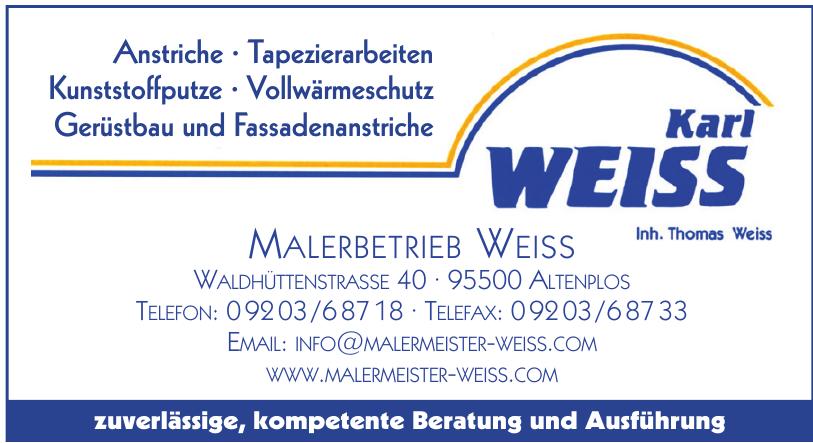 Malerbetrieb Karl Weiss