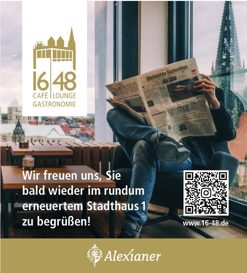 Alexianer 1648 Café, Lounge, Gastronomie