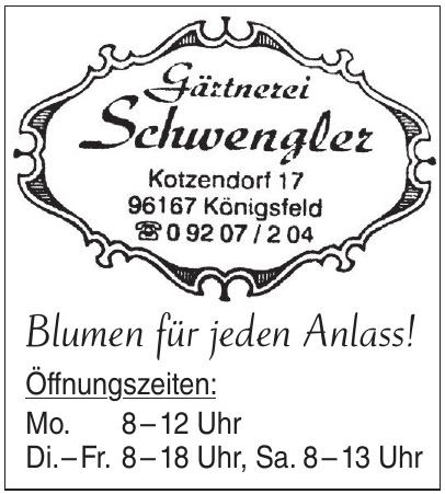 Gärtnerei Schwengler
