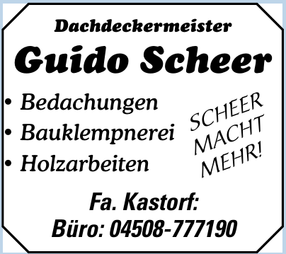 Fa. Kastorf Dachdeckermeister Guido Scheer