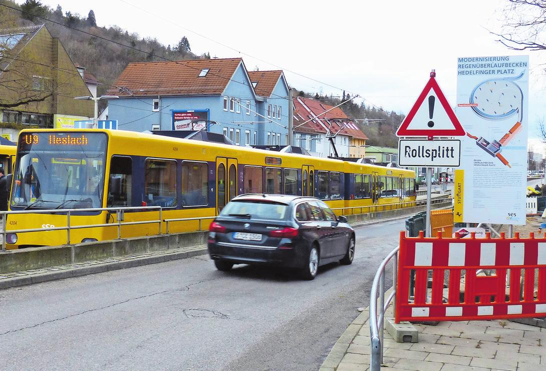 Die Sperrung der Hedelfinger Straße wurde bereits vor Weihnachten aufgehoben.