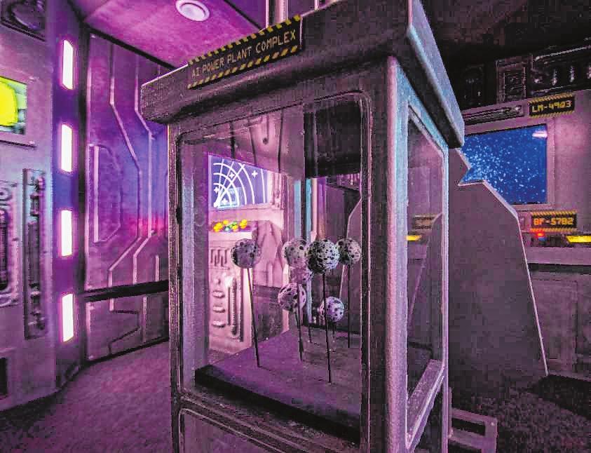 """Die """"Escape Rooms"""" (hier """"Spaceship"""") widmen sich verschiedenen Themen – und sind allesamt sehr aufwändig ausgestattet.   Bild: Wuest"""