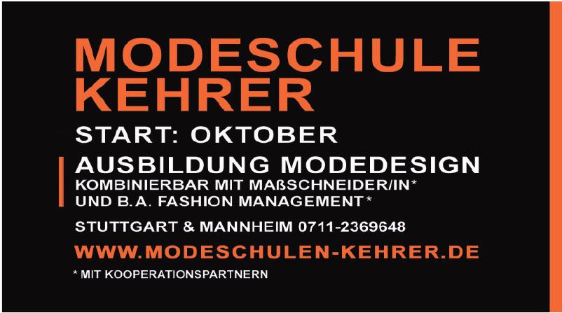 Modeschulen Brigitte Kehrer