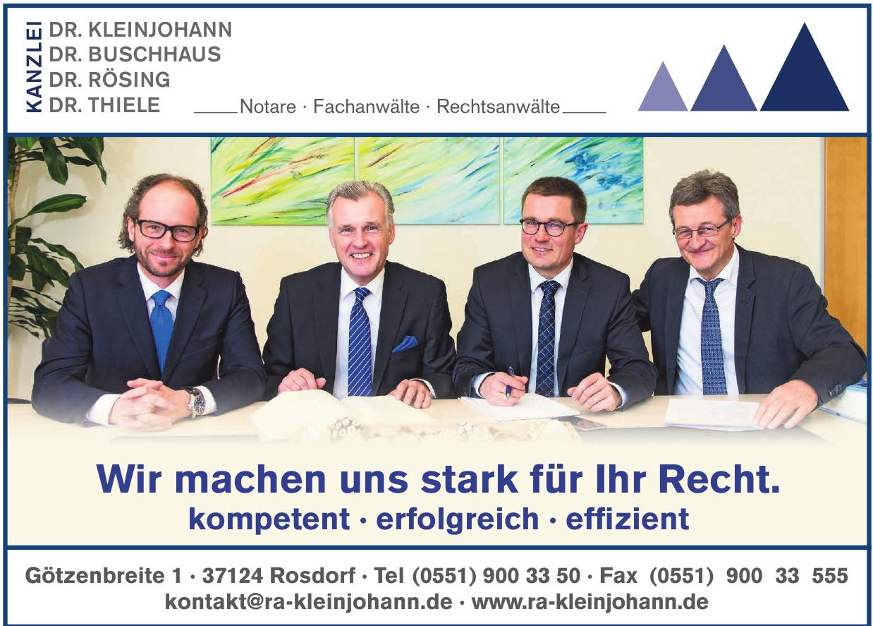 Kanzlei Dr. Stephan Kleinjohann, Dr. Dietmar Buschhaus, Dr. Jörg Rösing, Dr. Markus Thiele