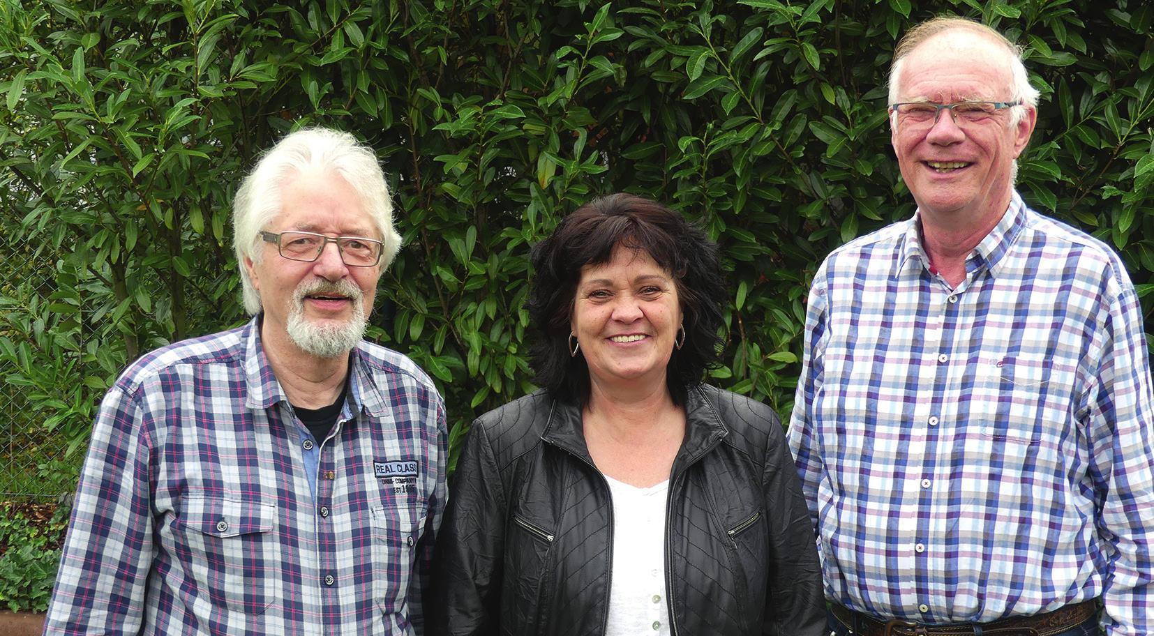 Wilhelm Maesmanns (links), Ulrike Nölke und Rolf Dürkop haben bei den Chorproben viel Spaß und freuen sich über neue Kollegen.