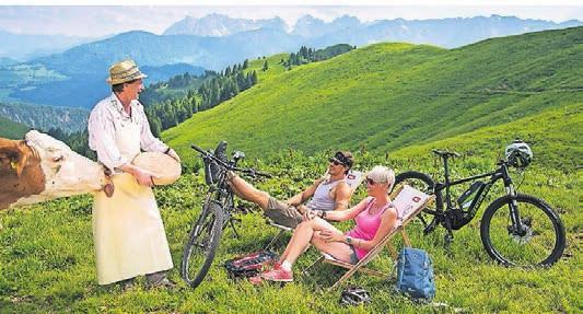 Caption... bis zum Picknick auf grünen Wiesen. Fotos: Tourismusverband Kaiserwinkl