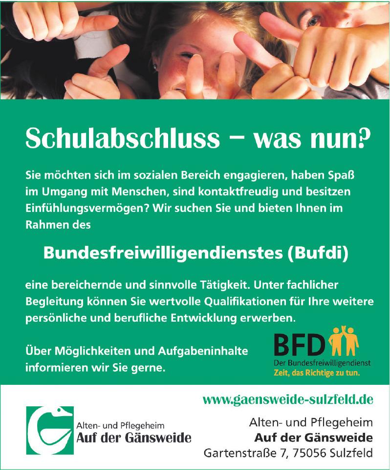 """Alten- und Pflegeheim """"Auf der Gänsweide"""""""