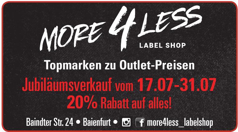 More 4 Less label Shop